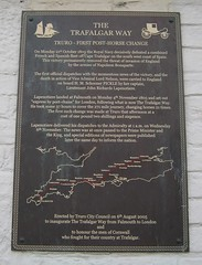 Photo of The Trafalgar Way and John Richards Lapenotiere black plaque