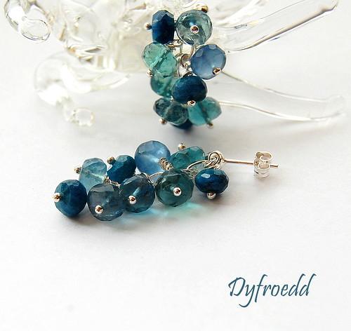 Dyfroedd Earrings by gemwaithnia