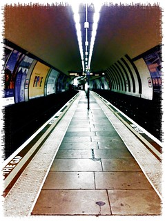 Inside Clapham North Tube Station