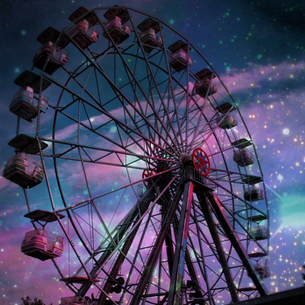 ferris wheel @ the abandoned six flags NOLA x the cave nebula