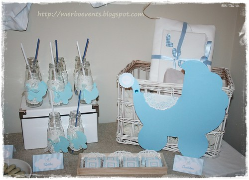 Baby Shower Lucas cartelitos mesa by Merbo Events