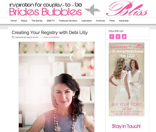 Brides, Bubbles and Bliss Wedding Registry Feature!
