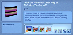 Vive the Revolution Wall Flag by GloboCon Textiles LLC