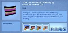 Vive the Revolution Wall Flag by GloboCon Textiles LLC