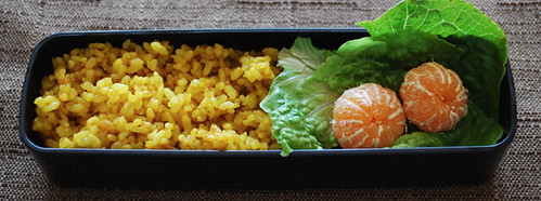 Curry rice bento