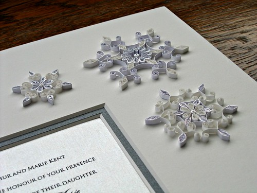 Quilled Snowflakes Wedding Invitation