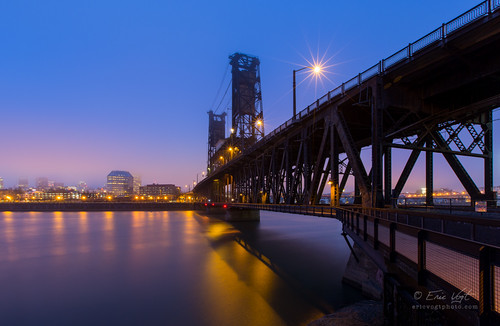 longexposure bridge pink blue cold fog oregon river portland dawn town downtown unitedstates down pdx steelbridge bluehour willametteriver willamette portlandbridges