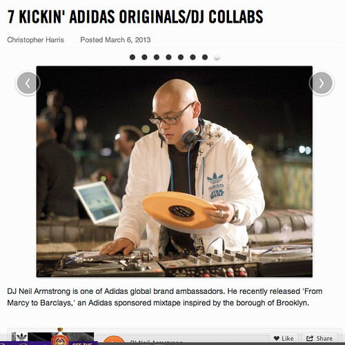 vibes list of 7 kickin adidas originals X DJ Collabos