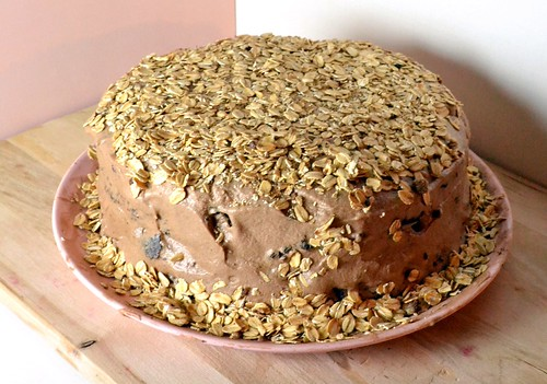mocha cake with coffee frosting