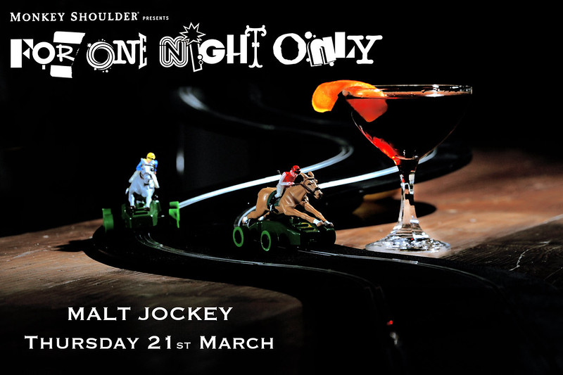 For one night only, Malt Jockey, The Cocktail Lovers