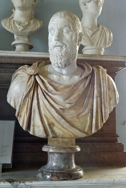 Bust of Macrinus in the Capitoline Museum, July 2012