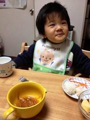晩御飯とらちゃん 2013/3/13