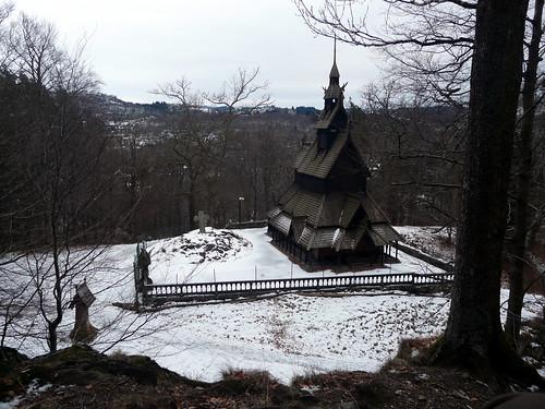 L'église en bois debout de Fantoft