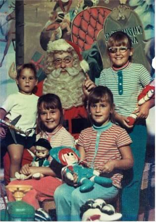Photo with Santa in 1970