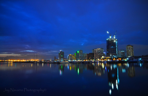 reflection cityscape bluehour