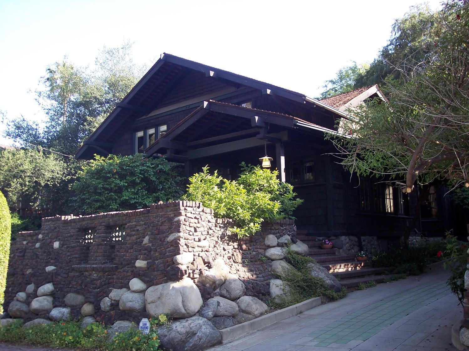 The robert r blacker house 1907 pasadena california - Livin pasadena ...