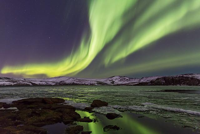 Kleifarvatn - Aurora Borealis