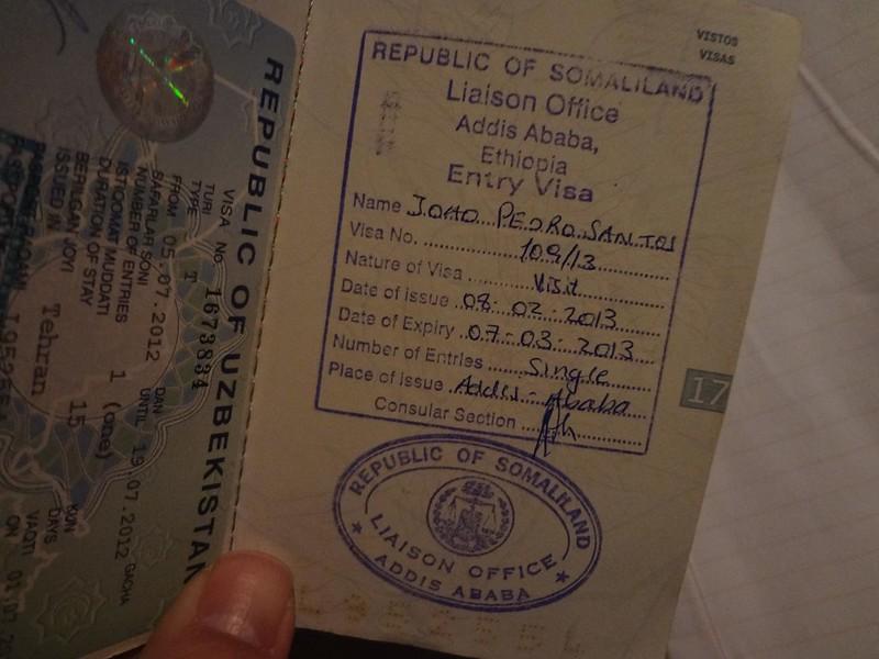 Visto da Somalilândia no passaporte