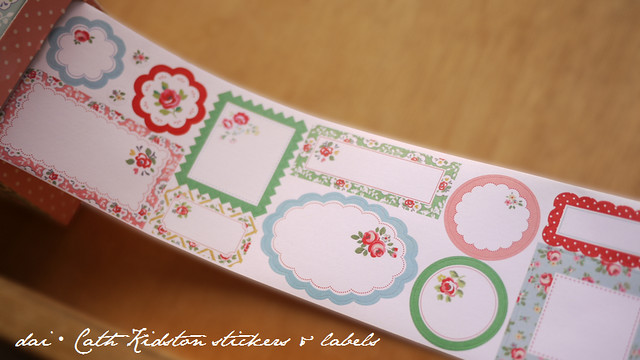 Cath Kidston roll of stickers and labels