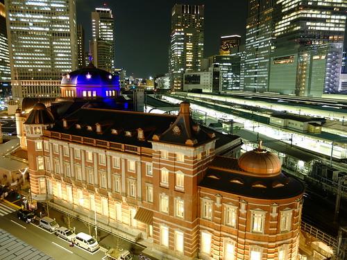 night scene of Tokyo Station terminal 03