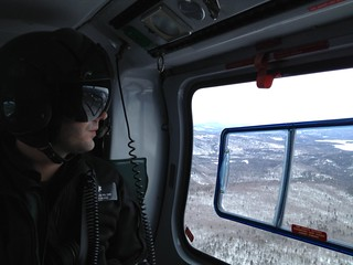 LifeFlight's Sam Schaab en route to a call