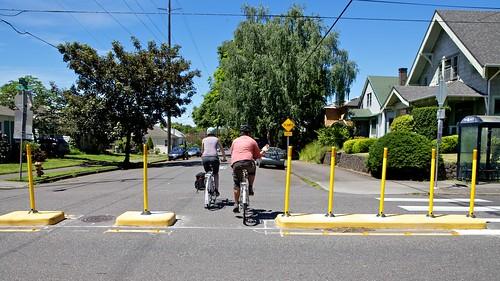 Neighborhood Greenway Features Portland OR