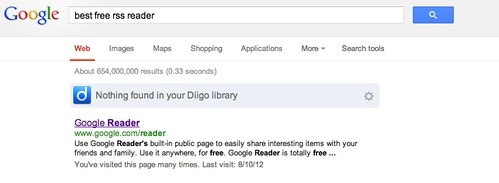 Heh Google Search! Google Reader is closing