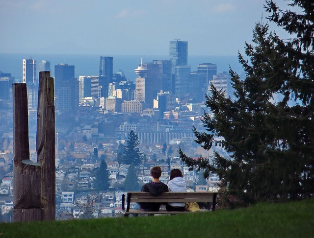 View of Downtown Vancouver from Burnaby Mountain