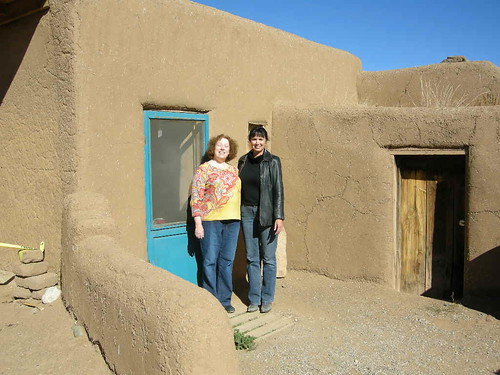 Aji and me at Taos Pueblo