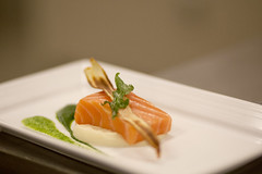 salmon, sashimi, culinary art, fish, food, dish, cuisine,