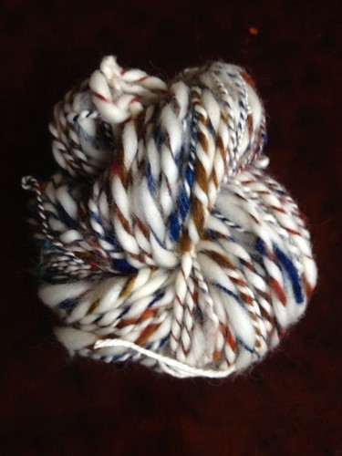 Handspun art batt and targhee 2ply