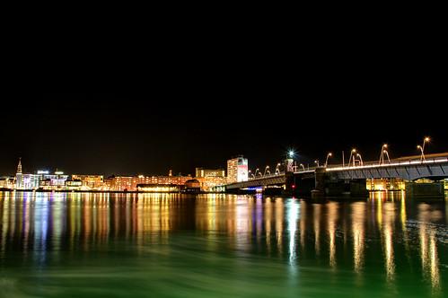 city longexposure nightphotography bridge urban water skyline night dark photography evening town high long exposure view dynamic time clear nighttime bro range hdr highdynamicrange limfjord aalborg limfjorden budolfi nørresundby limfjordsbroen budolfikirke budolfidomkirke aalborgdomkirke