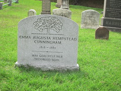 Grave of Emma Augusta Hempstead Cunningham