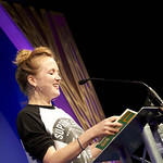 Hollie McNish | McNish performs from her poetry book for parental beginners © Helen Jones