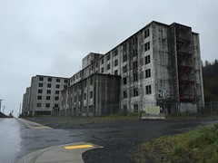 Remenants of the Cold War, abandoned military facility, Whittier, Alaska