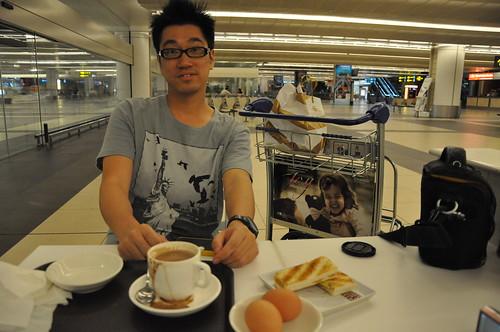 Kaya Toast at Toast Box in Changi Airport T2 in midnight