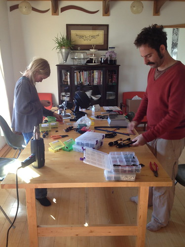 Sunday Morning Kit Building by mikey and wendy