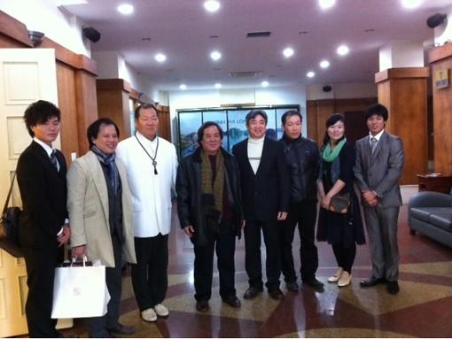 Ảnh : Đoàn đên thăm và trao đổi với Cục hợp tác quốc tế Bộ văn hóa thể thao du lịch