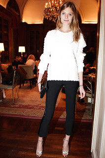 Constance Jablonski Black Crop Pants Celebrity Style Women's Fashion
