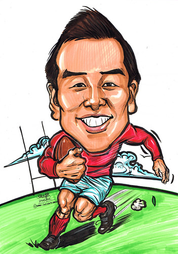 rugby player caricature
