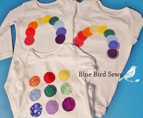 Applique Rainbow Onesie
