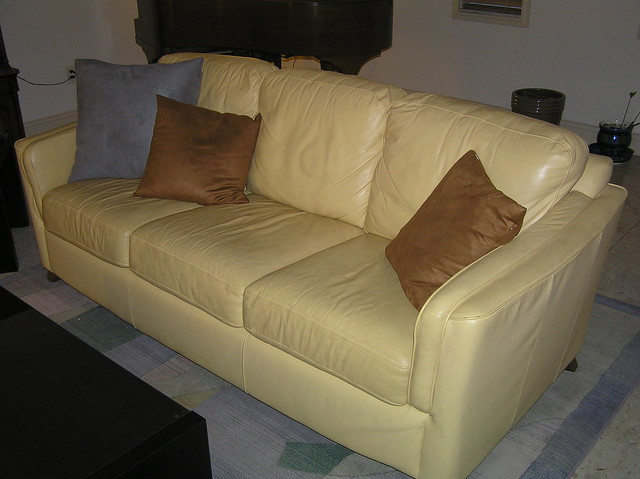Yellow Leather Sofa Set Flickr Photo Sharing