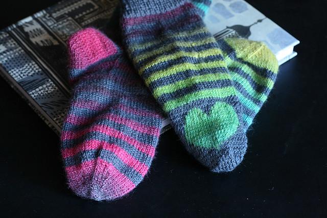 Donovan's Socks, heel detail