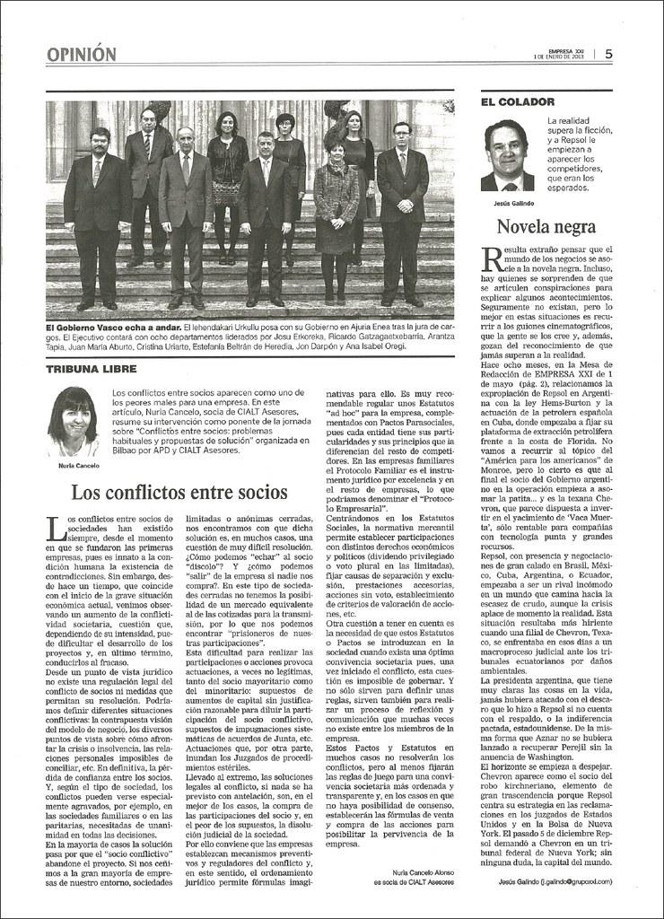 Artículo de Nuria Cancelo en EMPRESA XXI