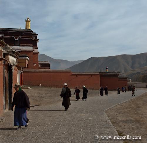 Tibetans fent la kora