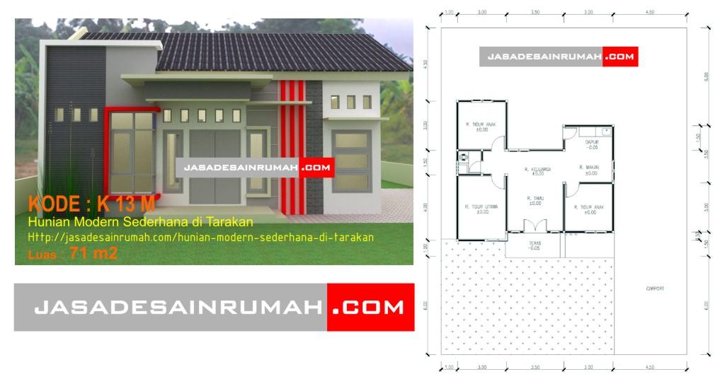 Rumah Minimalis Sederhana di Surabaya · Hunian Modern Sederhana di Tarakan