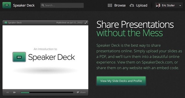 Share your slide decks at Speaker Deck