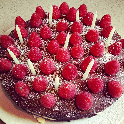#birthdaycake #mudcake #raspberries