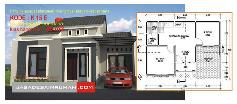 Desain Serupa. Rumah Elegan di Kupang & Griya Elegan Sederhana @ Jasa Desain Rumah