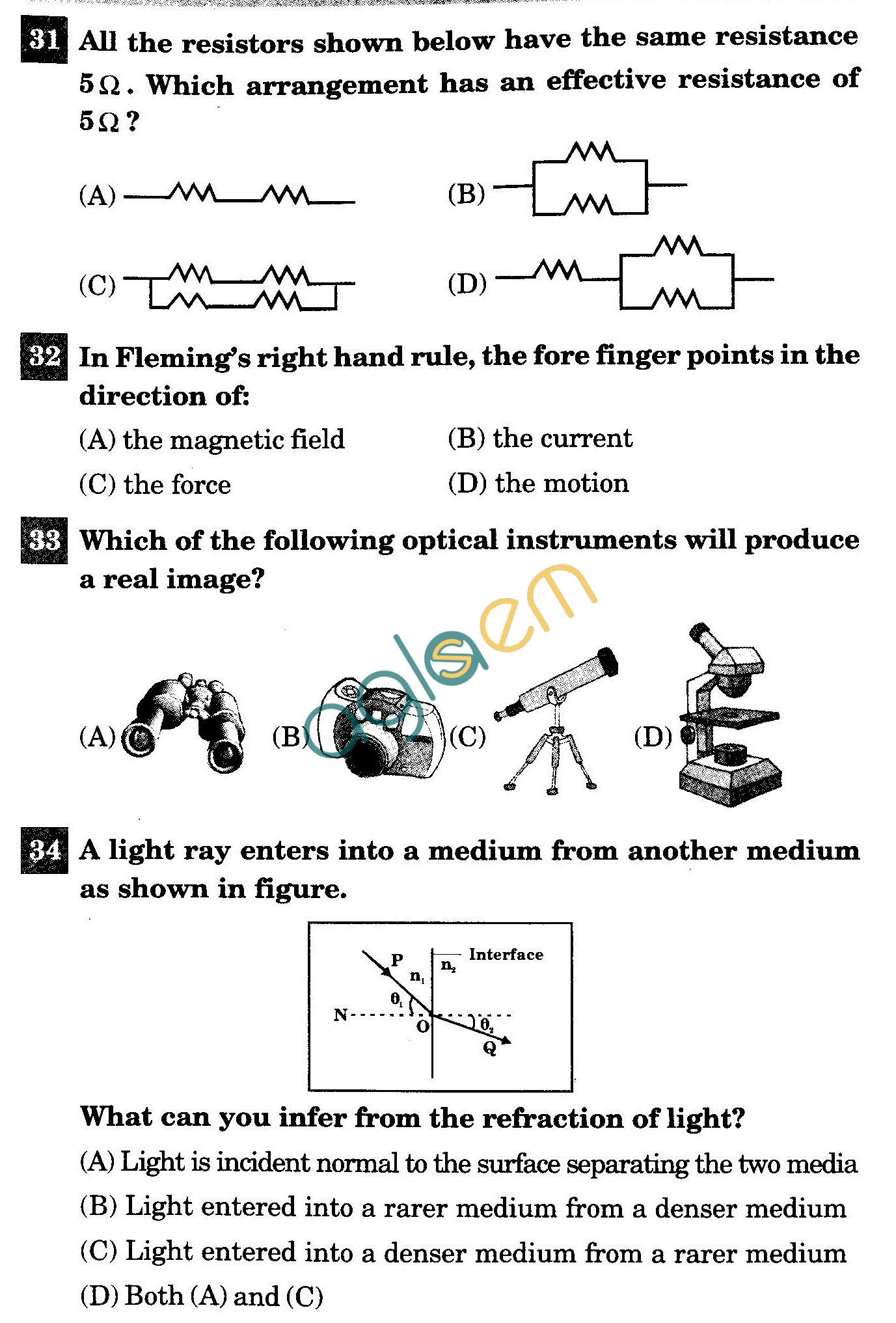 NSTSE 2011 Class X Question Paper with Answers - Physics